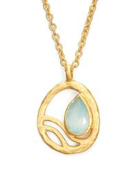 Satya Jewelry | Blue 'oasis' Pendant Necklace | Lyst