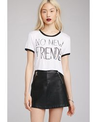 Forever 21 - White No New Friends Tee - Lyst