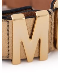 Moschino - Metallic Logo Plaque Cuff - Lyst