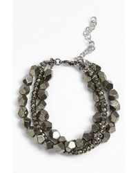 La Mer Collections | Metallic Pyrite Bracelet | Lyst