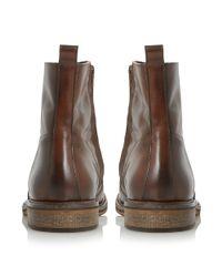 Bertie - Brown Caden Leather Zip Boots for Men - Lyst
