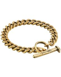 Giles & Brother - Yellow Spike Toggle Chain Bracelet - Lyst