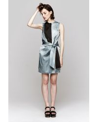 Opening Ceremony - Blue Echo Draped Watercolor Dress - Lyst