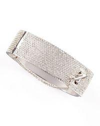 Eddie Borgo - Metallic Pave Crystal Safety Chain Cuff - Lyst