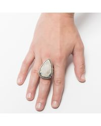 Pamela Love | Metallic Pale Neutral Jasper Ring - Size 8 | Lyst
