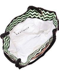 Seafolly - Black Tribal-print Rope-strap Tote Bag - Lyst