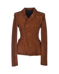 Balenciaga | Brown Blazer | Lyst