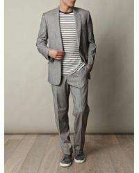 Rake | Gray Wool-silk Suit Jacket for Men | Lyst