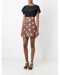 RED Valentino - Green Polka Dot Print A-line Skirt - Lyst