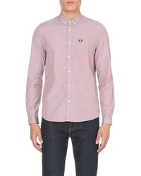 Fred Perry | Red Slim-fit Cotton Shirt for Men | Lyst