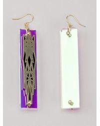 Sarah Angold Studio - Metallic 'Sacunda' Earrings - Lyst