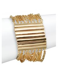 Saks Fifth Avenue - Metallic Multi-row Chain Column Bracelet - Lyst