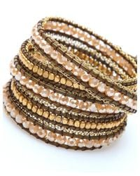 Nakamol | Multicolor Cadance Wrap-beige Crystal/bronze | Lyst