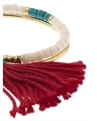Aurelie Bidermann | Red Sioux Turquoise, Bamboo & Gold-Plated Cuff | Lyst
