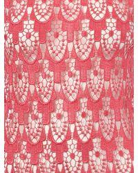 Jane Norman | Pink Teardrop Crochet Vest | Lyst