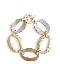 Anne Klein - Metallic Link Toggle Bracelet - Lyst