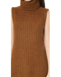 Theory | Brown Caresse Beylor T Tunic - Gold | Lyst