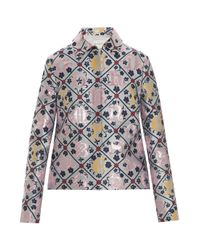 Mary Katrantzou | Multicolor Jaquard Grid Jacket | Lyst
