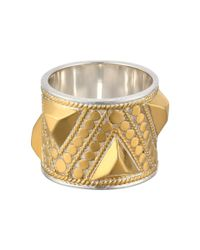 Anna Beck | Metallic Triangle Stud Band Ring | Lyst