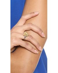Marc By Marc Jacobs - Metallic Jerrie Rose Ring - Oro Multi - Lyst