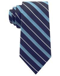 Michael Kors - Blue Michael Triple Texture Stripe Slim Tie for Men - Lyst