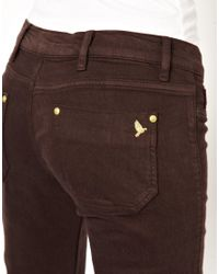 M.i.h Jeans - Brown Vienna Skinny Jean in Coffee - Lyst