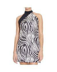 Fausto Puglisi - Black Dress Print Multicolor - Lyst
