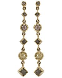 Todd Reed | Metallic Long Drop Diamond Dangle Earrings | Lyst