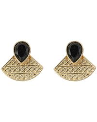 Guess - Metallic Duo Earrings Set With Cluster Button And Front To Back Stud - Lyst