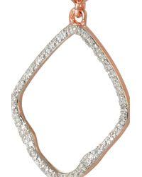 Monica Vinader - Pink Riva Rose Gold-Plated Diamond Earrings - Lyst