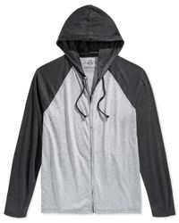 American Rag | Black Colorblocked Zip Hoodie for Men | Lyst
