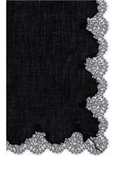 Valentino - Purple Lace-border Wool Scarf - Lyst