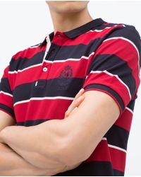Zara | White Basic Polo Shirt for Men | Lyst