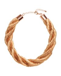 H&M | Metallic Twisted Necklace | Lyst