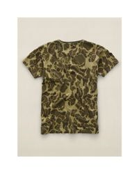 RRL - Green Camo-print Cotton T-shirt for Men - Lyst