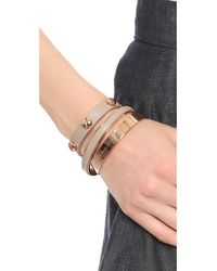 Marc By Marc Jacobs | Gray Screw Leather Bracelet Cement | Lyst