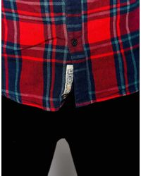 Blend | Blue Shirt Buttondown Large Check One Pocket for Men | Lyst