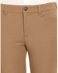Lauren by Ralph Lauren | Brown Stretch-cotton Straight Pants | Lyst