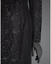 Dolce & Gabbana - Black Long Dress In Macramé Lace With Bustier - Lyst