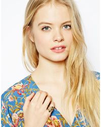 ASOS - Metallic Hearts Multi Band Ring - Lyst