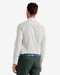 Ted Baker | White Ls Ghost Print Shirt for Men | Lyst