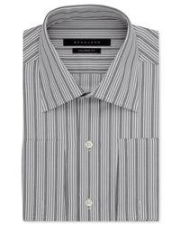 Sean John - Gray Aluminum Stripe French Cuff Shirt for Men - Lyst