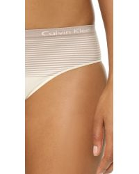 Calvin Klein - White Seamless Illusions Hipsters - Lyst