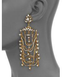 Erickson Beamon | Metallic White Wedding Crystal Draped Drop Earrings | Lyst