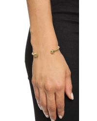 Giles & Brother | Metallic Nut & Bolt Cuff Bracelet - Gold | Lyst