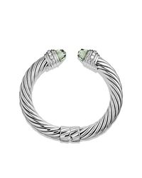 David Yurman | Green Bracelet With Prasiolite And Diamonds | Lyst