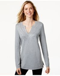 Charter Club - Gray Only At Macy's - Lyst