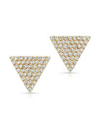 Anne Sisteron | Metallic 14kt Yellow Gold Diamond Large Triangle Olivia Stud Earrings | Lyst