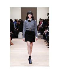 Carven - Black Textured Miniskirt - Lyst