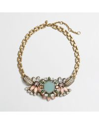 J.Crew | Multicolor Factory Aqua Centerpiece Necklace | Lyst